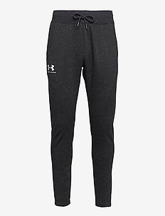 SPECKLED FLEECE JOGGER - bukser - black