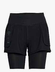 UA Run Anywhere 2N1 Short - training korte broek - black