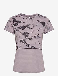 UA Streaker 2.0 Inverse SS - t-shirts - slate purple