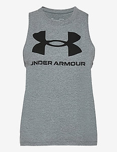 Sportstyle Graphic Tank - topjes - pitch gray light heather