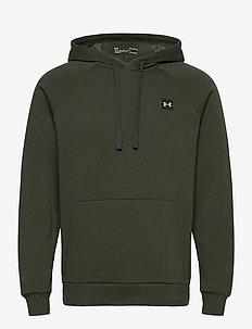 UA Rival Fleece Hoodie - basic sweatshirts - baroque green
