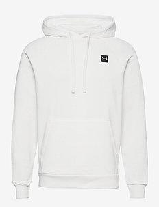 UA Rival Fleece Hoodie - podstawowe bluzy - onyx white