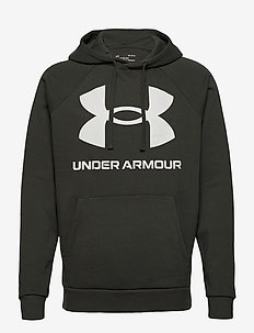 UA Rival Fleece Big Logo HD - pulls a capuche - baroque green