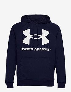 UA Rival Fleece Big Logo HD - huvtröjor - midnight navy