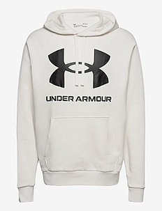UA Rival Fleece Big Logo HD - huvtröjor - onyx white