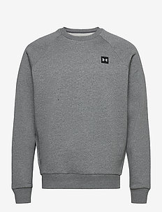UA Rival Fleece Crew - swetry - pitch gray light heather