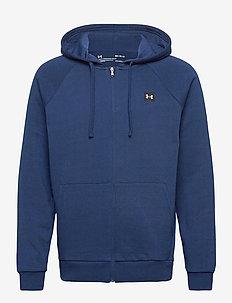 UA Rival Fleece FZ Hoodie - basic sweatshirts - academy