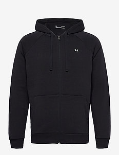 UA Rival Fleece FZ Hoodie - basic sweatshirts - black