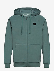 UA Rival Fleece FZ Hoodie - basic sweatshirts - lichen blue