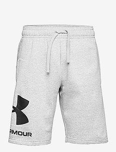UA Rival FLC Big Logo Shorts - casual shorts - mod gray light heather