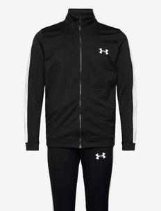 UA Knit Track Suit - verryttelypuvut - black
