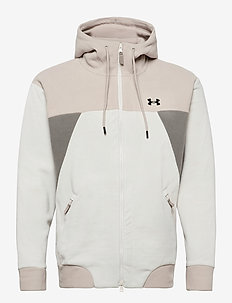UA Recover Fleece FZ Hoodie - perus-college-paitoja - summit white