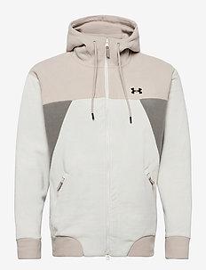 UA Recover Fleece FZ Hoodie - basic-sweatshirts - summit white