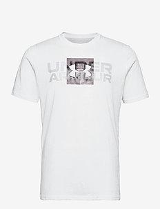 UA BOX LOGO WORDMARK SS - topy sportowe - white