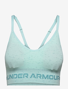 UA Seamless Low Long Htr Bra - urheiluliivit: matala tuki - breeze