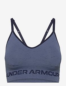 UA Seamless Low Long Htr Bra - sportbeh''s: low - mineral blue