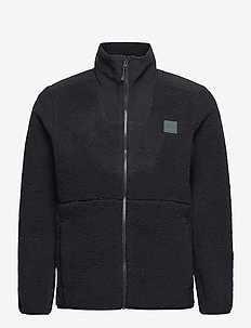 UA LEGACY SHERPA SWACKET - basic sweatshirts - black