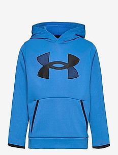 UA ARMOUR FLEECE HOODIE - hættetrøjer - blue circuit