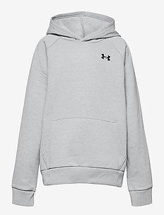 UA RIVAL COTTON HOODIE - hoodies - mod gray light heather