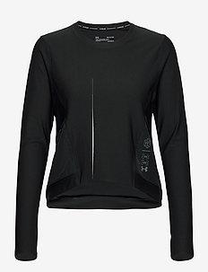 UA Run Anywhere Cropped LS - bluzki z długim rękawem - black