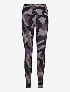 UA Rush Camo Legging - running & training tights - slate purple