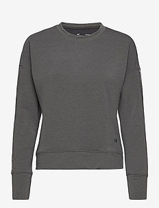 UA Rival Terry Taped Crew - sweatshirts - jet gray