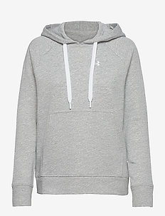UA Rival Terry PO HOODIE - huvtröjor - steel full heather