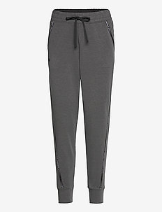 UA Rival Terry Taped Pant - byxor - jet gray