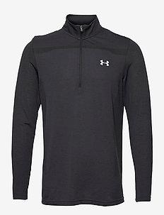 UA Seamless 1/2 Zip - langarmshirts - black