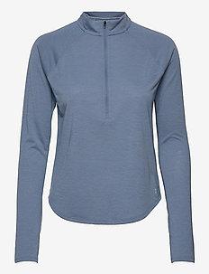 UA Streaker Half Zip - langærmede toppe - mineral blue