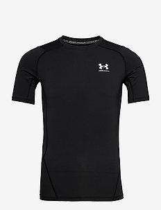 UA HG Armour Comp SS - urheilutopit - black