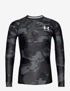 UA HG IsoChill Comp Print LS - langarmshirts - black