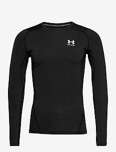UA HG Armour Comp LS - base layer tops - black