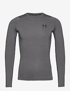 UA HG Armour Comp LS - base layer tops - carbon heather