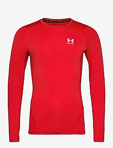 UA HG Armour Comp LS - base layer tops - red