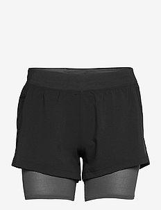 UA IsoChill Run 2N1 Short - training korte broek - black