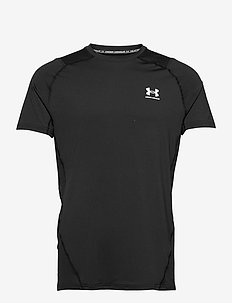 UA HG Armour Fitted SS - t-shirts - black