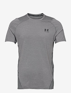 UA HG Armour Fitted SS - urheilutopit - carbon heather
