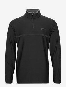 UA Playoff 2.0 1/4 Zip - golf jassen - black