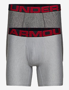 UA Tech 6in 2 Pack - underwear - mod gray light heather