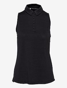 UA Zinger Sleeveless Polo - polo's - black