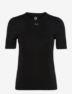 UA Rush Seamless SS - t-shirty - black