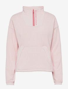 UA Rush Fleece 1/2 Zip - fleecet - micro pink