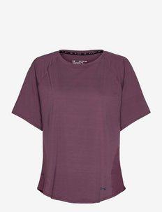 UA Rush Mesh SS - t-shirty - ash plum