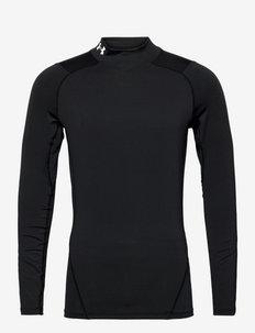 UA HG Armour Comp Mock LS - långärmade tröjor - black