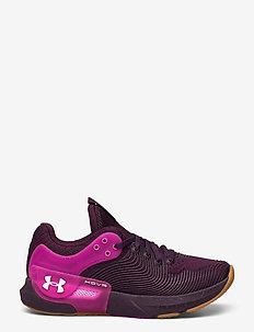 UA W HOVR Apex 2 Gloss - training schoenen - polaris purple