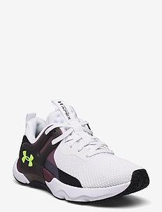 UA W HOVR Apex 3 - training schoenen - white