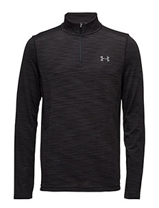 THREADBORNE SEAMLESS 1/4 ZIP - BLACK