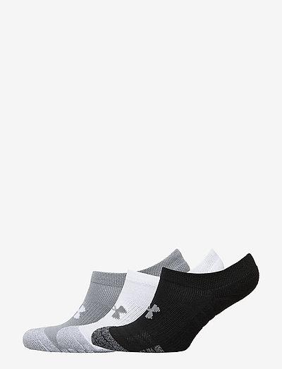 UA Yth Heatgear No Show 3pk - socks - steel