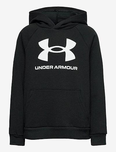 UA RIVAL FLEECE HOODIE - hoodies - black